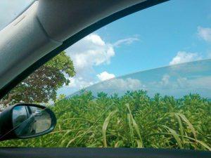 車の窓ガラスを開ける